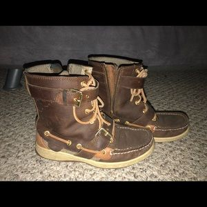 Women's Sperry Top-Siders Leather Boots, SZ 6.5